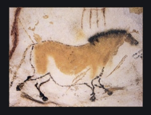 Prehistoric orse painting from the Lascaux cave in France.